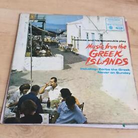 Music From The Greek Islands Vinyl LP - Tacticos & His Bouzoukis Record MFP 1233