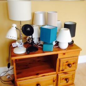 Selection of lamps