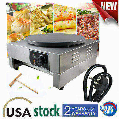 3kw Commercial Electric Single Crepe Maker And Pancake Griddle Machine Non Stick