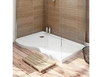 Victoria Plumb WIN1390TRL Shower Tray LH Curved Walk In