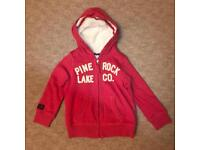Girls Next Red Hooded Sweat Jacket - Size 5 Years BNWT