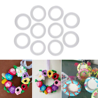 10pcs 11cm Round Circle Styrofoam Foam for DIY Craft Model Making Material](Styrofoam Circles)