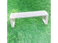 Garden Bench | Backless Bench | Pressure Treated Wooden Bench | Free Delivery Norwich