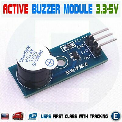 Active Buzzer Alarm Beep Piezo Module Low Level Trigger For Arduino Pic Avr Usa