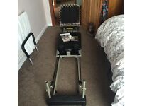 Aero Pilates machine with cardio rebounder