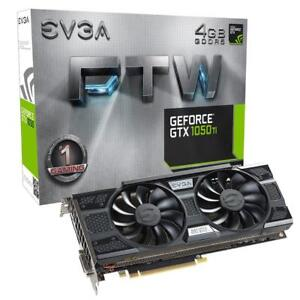 EVGA GeForce GTX 1050 Ti FTW Gaming Graphic Cards ACX 3.0, 4GB GDDR5, DX12 OSD Support (PXOC) Graphics Card 04G-P4-6258-