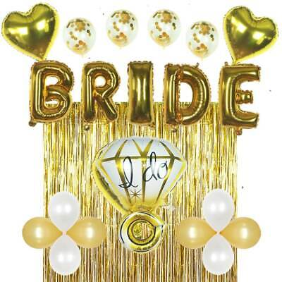 Bridal Shower & Bachelorette Party Decorations kit Gold by ZAGGIE (22 - Bridal Shower Kit