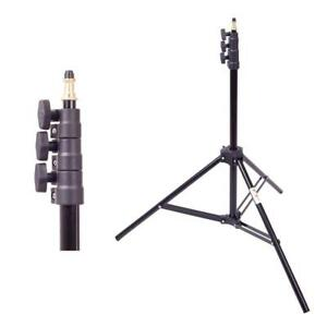 Professional Photography Adjustable 4-Section Lightweight Aluminium Light Stand - 2.6M - Ship Across Canada