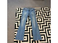 Flared Denim Jeans, very comfortable, second hand, size 10