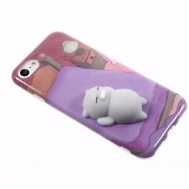 iPhone 6/6+ 7/7+ with Squishy 3D Cat Case
