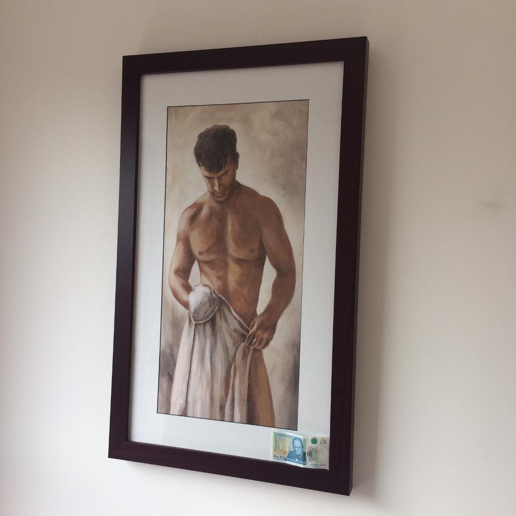 "Painting, framed 36""x 21,5"" print"
