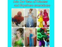 Kids party entertainers needed