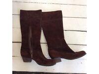 Women's Brown suede Hobbs boots size 7