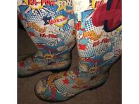 Pow Vintage Wellington Boots. size men's 10