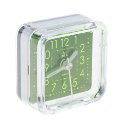 Mini Travel Alarm Clock Portable Table Desk Snooze Clock with Night Light 6#