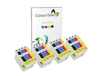 16 ( 4 Sets ) Colour Direct Compatible Ink Cartridges