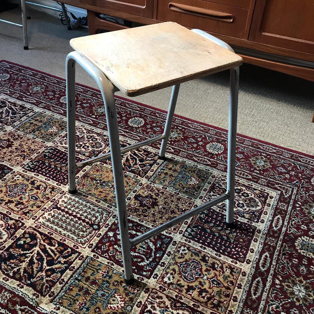 Enjoyable Vintage School Industrial Metal Stool Chair In Hitchin Hertfordshire Gumtree Inzonedesignstudio Interior Chair Design Inzonedesignstudiocom