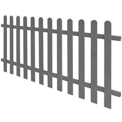 vidaXL Picket Fence WPC 200x80 cm