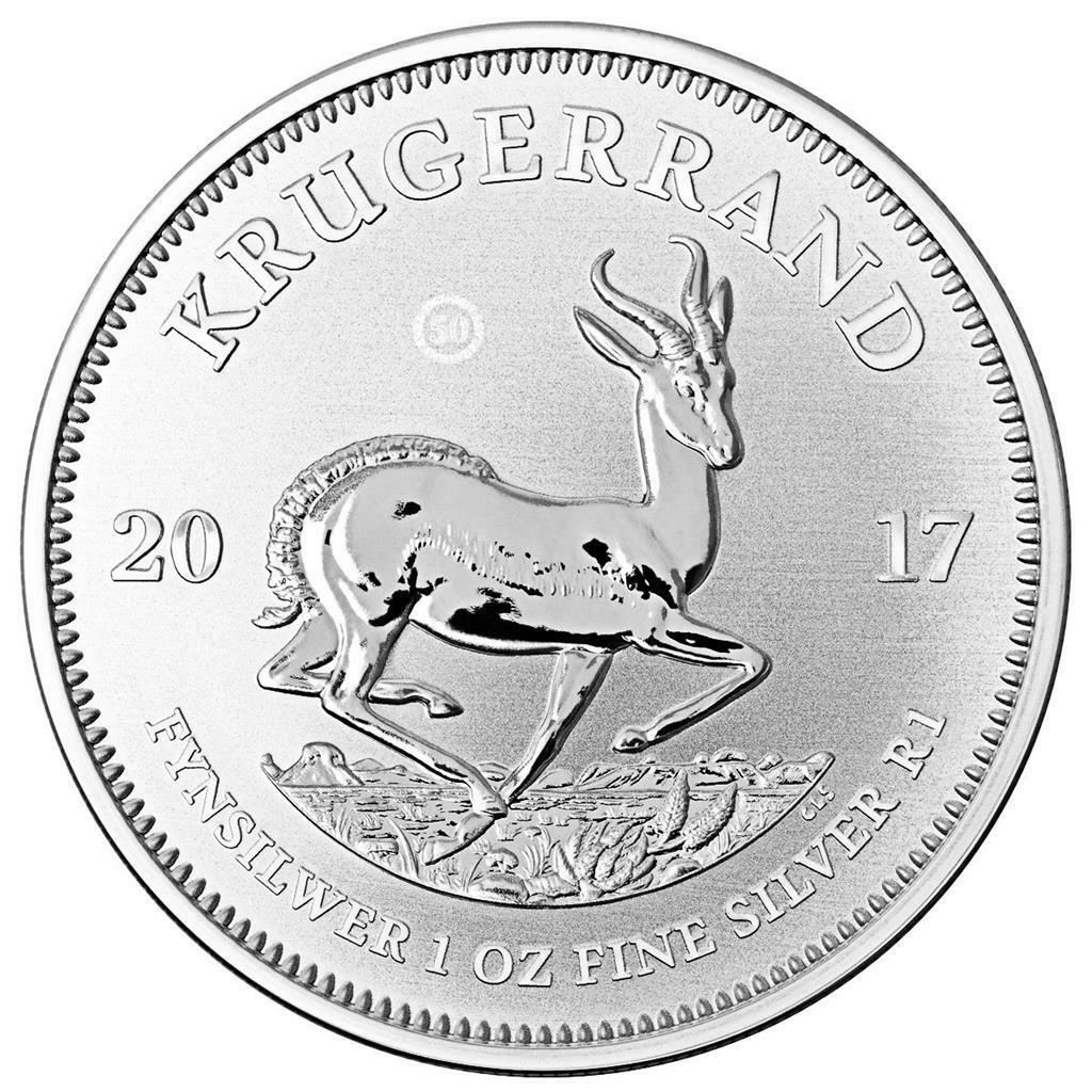 Südafrika - 1 Rand 2017 - 50 Jahre Krügerrand - 1 Oz Silber Premium ST