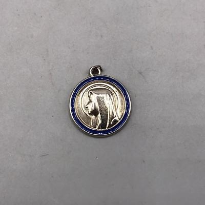 Vintage Mary Embossed Religious Medal