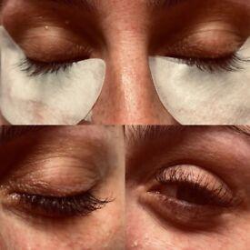 Eyelash extension treatment