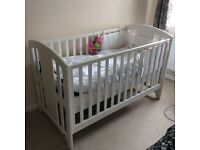 Mamas & Papas Harbour Cot Bed and Dresser Changer - White