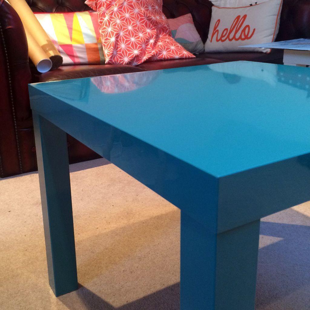 Nice IKEA LACK Side / Coffee Table • High-gloss Blue