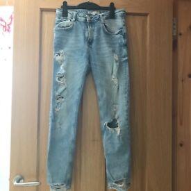 Pair of light blue denim Zara jeans! Size 8 (EU36) Very good condition, hardly worn.