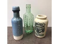 Collection of vintage / antique bottles