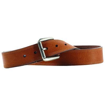 Ariat Western Mens Belt Work Triple Stitch Brown Sunshine A10004632 Ariat Mens Work Belt