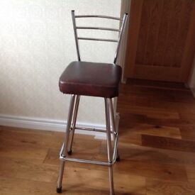 Set of four bar stools
