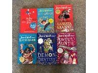 Set of 6 David Walliams paperback and hardback books