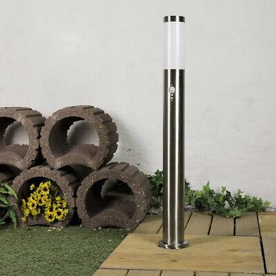 Edelstahl Außenleuchte Sockellampe 80cm mit Bewegungsmelder Sensor Wegleuchte