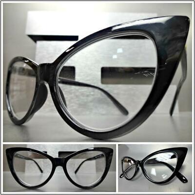 Women's EXAGGERATED RETRO Cat Eye Style READING Eye Glasses Readers Black (Women's Glass Frames Styles)