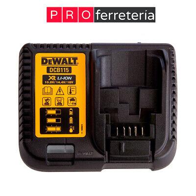 Cargador Dewalt DCB115 XR 10.8V, 14.4V y 18V para baterías Li-ion