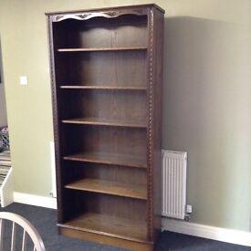 Superb quality oak large bookcase