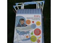 High Chair For Sale - Nearly New