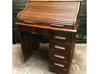 Fabulous antique oak roll top desk in lovely condition .