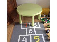 Ikea Children's table MAMMUT In/outdoor light green