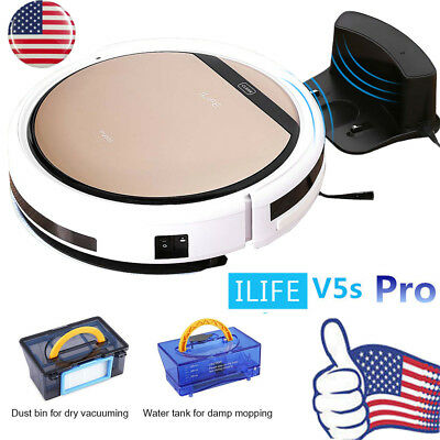ILIFE V5S Pro Smart Robot Vacuum Cleaner Microfiber Dust Floor Sweeping Machine