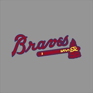 Atlanta Braves Mlb Team Logo Vinyl Decal Sticker Car