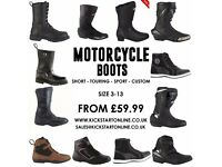 MOTORCYCLE BOOTS BOOTS BOOTS FROM £59.99 -CLASSIC-SPORT-SHORT-TOURING ETC LEATHER WATERPROOF