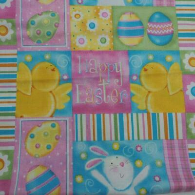 Victoria Hutto for Quilting Treasures Easter Pattern Quilting Fabric 1yd + 9