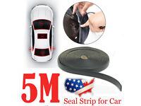 5M Rubber Seal Strip Trim For Car Triangular Sunroof Windshield Weatherstrip