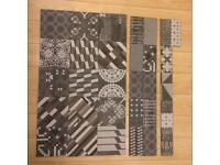 Mutina Azulej Nero Tiles 20x20