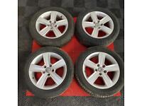 17' Genuine Volkswagen Golf Match Alloys + Tyres 5x112