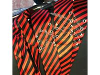 3 red Rock Chic Ties
