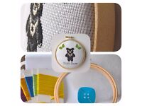 Sloth Bear Cross Stitch Hoop Kit