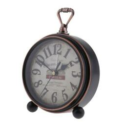 Retro Style Decorative Clocks Battery Operated Bedside Wall Clock Rustic Style
