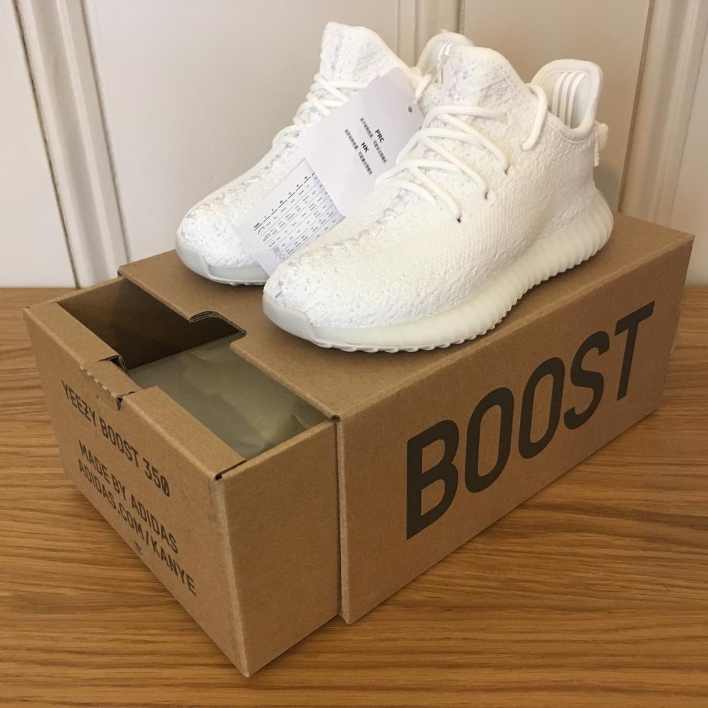 Adidas Yeezy Boost 350 V2 Infant Cream Triple White Size UK 7.5k